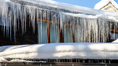 Frozen Gutters in Granite Quarry